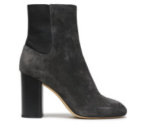 Suede Ankle Boots Dark Gray