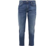 Woman Dre Frayed Boyfriend Jeans Mid Denim