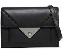 Leather Shoulder Bag Black Size --