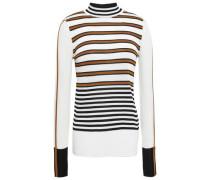 Stretch-knit Turtleneck Sweater Ivory