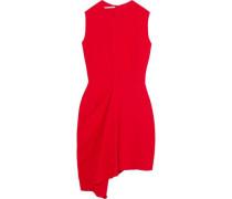 Draped stretch-crepe mini dress