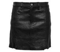Leather Mini Skirt Black  5