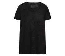 Printed cotton and cashmere-blend jersey T-shirt