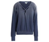Lattice-trimmed dégradé cotton-fleece sweatshirt