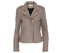 Han Leather Biker Jacket Taupe