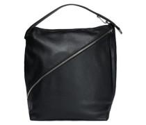 Textured-leather shoulder bag