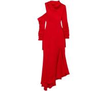 Asymmetric cutout satin maxi dress