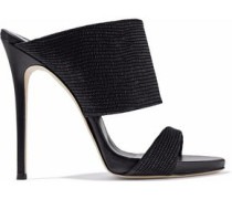 Andrea lizard-effect leather mules
