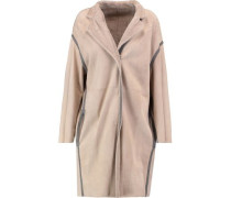 Reversible suede and cashmere-blend coat
