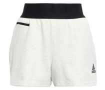 Woman Id Stadium Mélange Cotton-blend Jersey Shorts Ivory