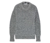 Mélange Brushed Knitted Sweater Gray