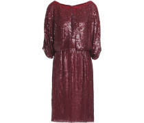 Embellished silk-georgette gown