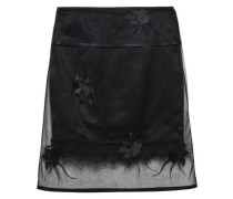 Embroidered Tulle Skirt Black