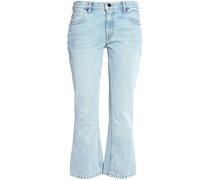 Woman Mid-rise Flared Jeans Light Denim