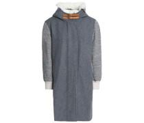 Wool-blend Hooded Jacket Gray