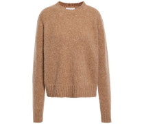 Woman Brushed Mélange Knitted Sweater Sand