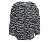 Hanan Printed Poplin Shirt Black