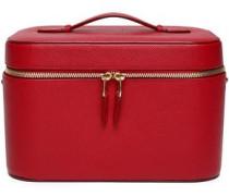 Textured-leather Cosmetics Case Claret Size --