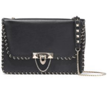 Demilune Small Chain-trimmed Leather Shoulder Bag Black Size --