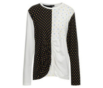 Paneled Printed Cotton-jersey Top Off-white