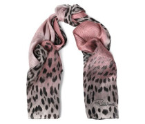 Frayed cashmere-gauze scarf