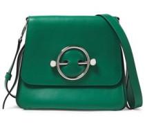 Disc Leather Shoulder Bag Forest Green Size --