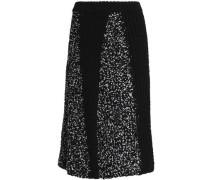 Paneled knitted skirt