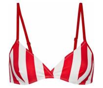 The Brigitte striped triangle bikini top