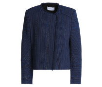 Frayed jacquard jacket