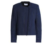 Frayed Jacquard Jacket Royal Blue