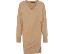 Gathered Knitted Dress Sand