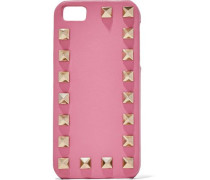 Rockstud textured-leather iPhone 5 case