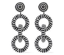 Beaded Earrings Black Size --