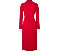 Milan open-back wool-crepe dress