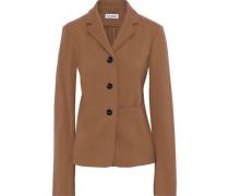 Wool-crepe Blazer Light Brown