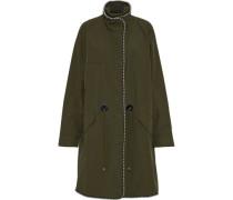 Bead-embellished twill jacket
