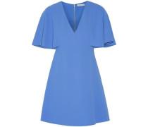 Cape-effect crepe mini dress