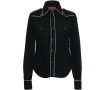 Cotton-chambray Shirt Black