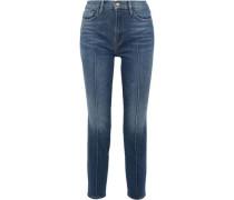Le Nouveau Straight High-rise Slim-leg Jeans Mid Denim  5