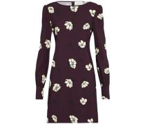 Floral-print crepe mini dress