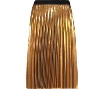 Pleated Lamé Skirt Gold Size 0