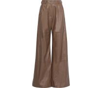 Unbridled Leather Wide-leg Pants