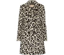 Plaistow leopard-print llama hair and wool-blend trench coat