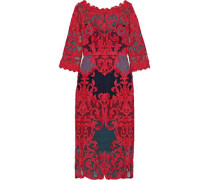 Guipure Lace Dress Red