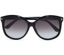 Alicia D-frame Acetate Sunglasses Black Size --
