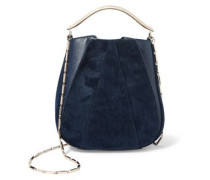 Pepper Pochette mini twill and textured-leather bucket bag