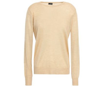 Paneled Cashmere Sweater Beige