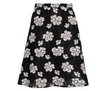 Guipure Lace Mini Skirt Black