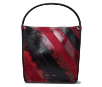 Ayers, leather and suede tote