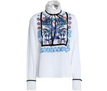 Imperium embroidered silk crepe de chine blouse